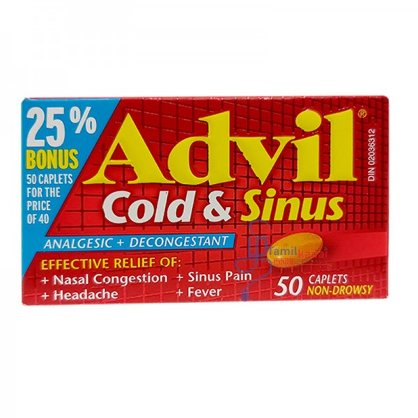 Advil Cold and Sinus - 50 tablets