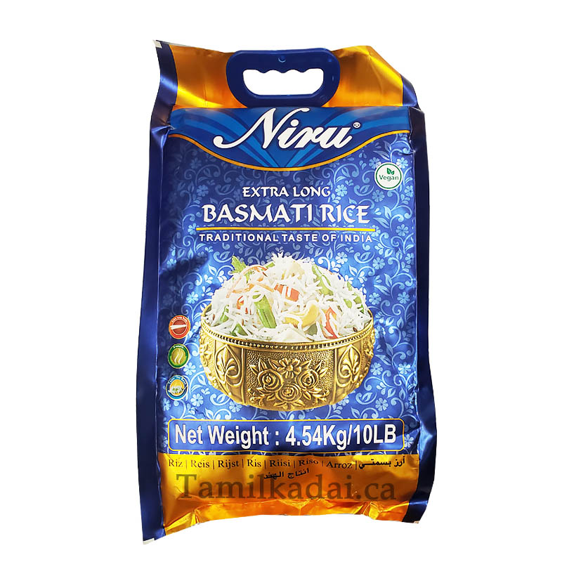 BASMATI RICE - பாசுமதி அரிசி (10lb) Traditional Taste of India